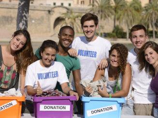 group of volunteers